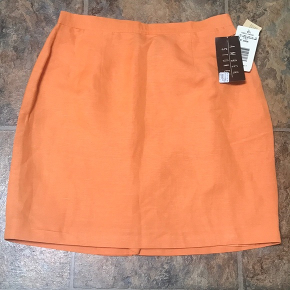 Amber Stone Dresses & Skirts - ORANGE AMBER STONE SKIRT
